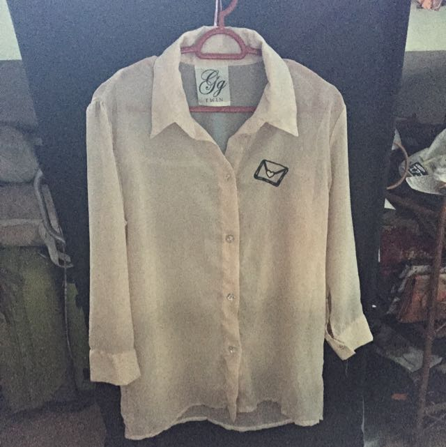 Nude Chiffon Shirt