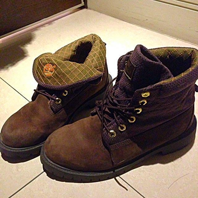 TIMBERLAND 中性靴(棕色)(反折靴