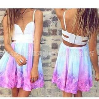 LOOKING FOR: Floral Ombré Bralet Dress