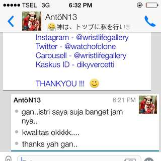 Testimonial From Mr. Anton For Order AP Thin 👍