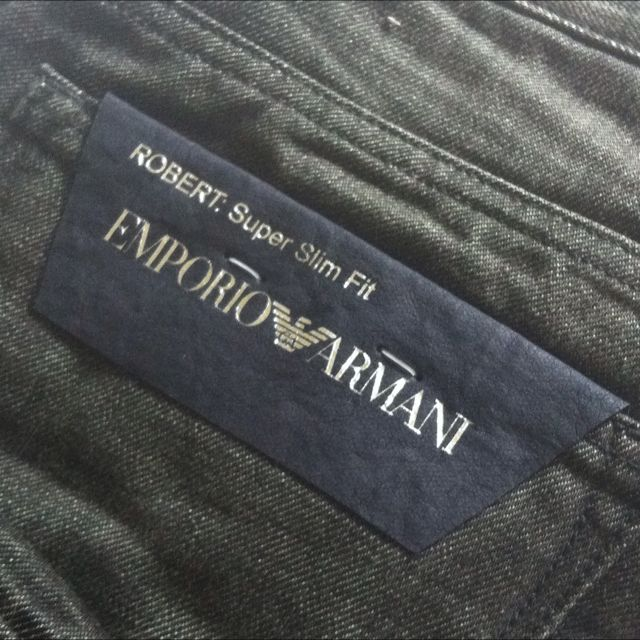 6534cbb24d17 Authentic BN Homme Emporio Armani Black Jeans 30, Luxury on Carousell