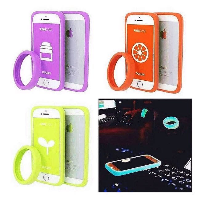 Glow In The Dark Ring Case For Iphone 5/5S