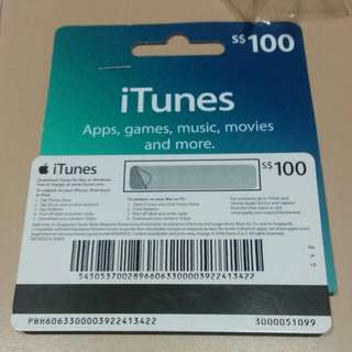 iTunes $100 Gift Card [Reserved]