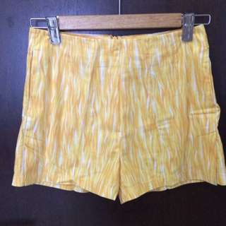 Vintage Inspired Summery Sunflower Yellow High Waist Shorts