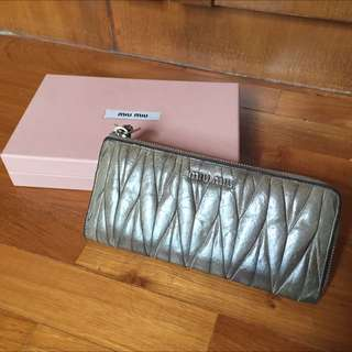Miu Miu Matelasse Lux Long Wallet