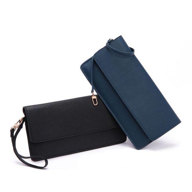 質感手拿包可當皮夾隨身包