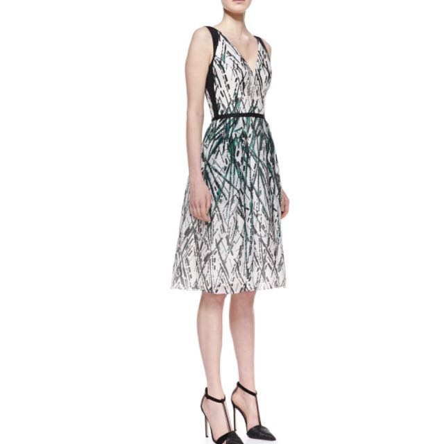 Inspired Carolina Herrera Women's Paint-Splatter Dress