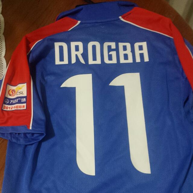 pretty nice ea631 da0ec Rare Official Shanghai Shenhua Home Drogba jersey, Sports on ...