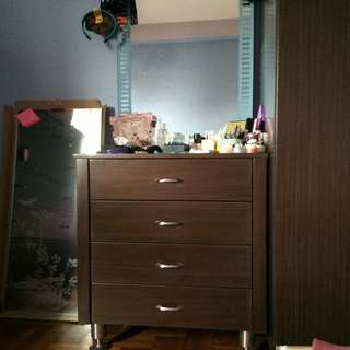 Makeup Drawer With Mirror