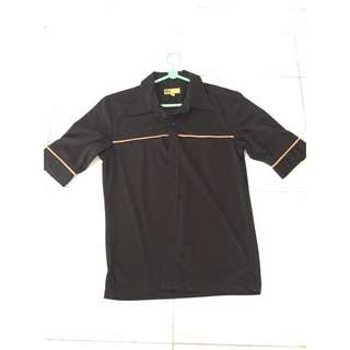 Black Shirt With Yellow Strip