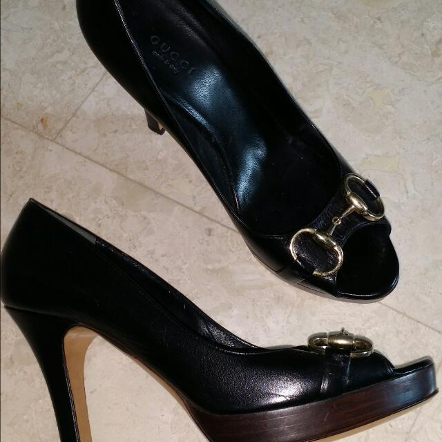 8b44d89102b Authentic Gucci High Heels Sand Pelle S. Cuoio