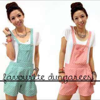 Polka Dot Pink Dungaree