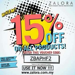 ZALORA 15%OFF VOUCHER