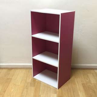 Pink & White Bookshelf / Bookcase