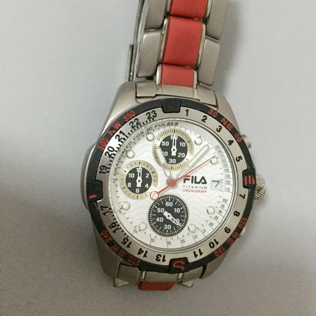 00df059a918c Fila Titanium Chronograph Sports Watch