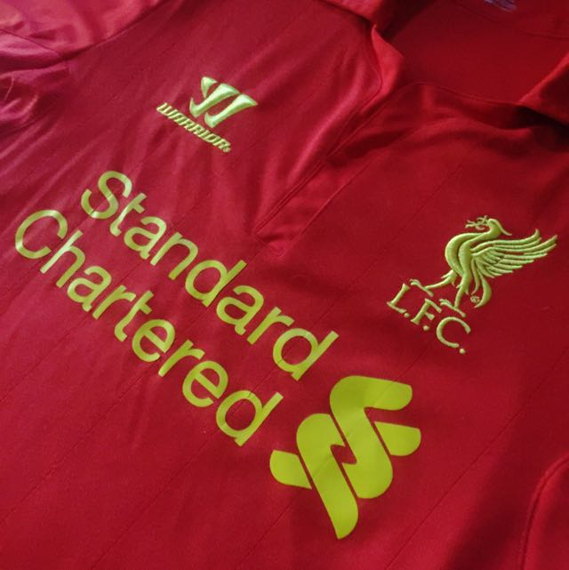 fe9e4b950 Authentic Liverpool Warrior LFC 2012 2013 Original Short Sleeve Red Home  Kit Jersey Standard Chartered