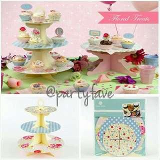 Floral Cupcake Stand - Tempat Cupcake