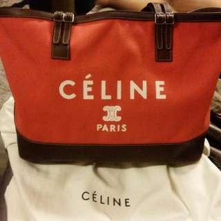 🚚 Celine Orange Poppy Canvas