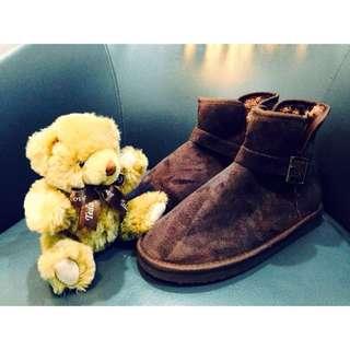 求售👏巧克力棕雪靴