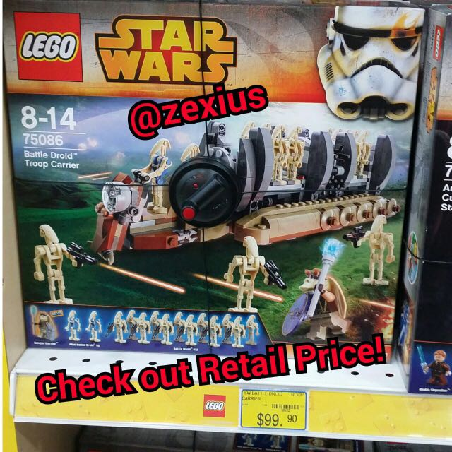 Lego Star Wars Battle Droid Troop Carrier 75086 Toys Games On