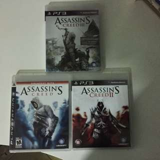 PS3 Assassin Creed 1, 2 And 3