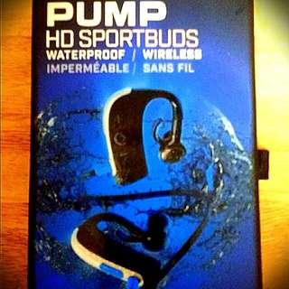 Brand New In Box Blueant PUMP HD SportBuds Music Headset. Bluetooth