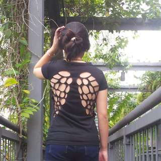 Cut Out Wing Shirt
