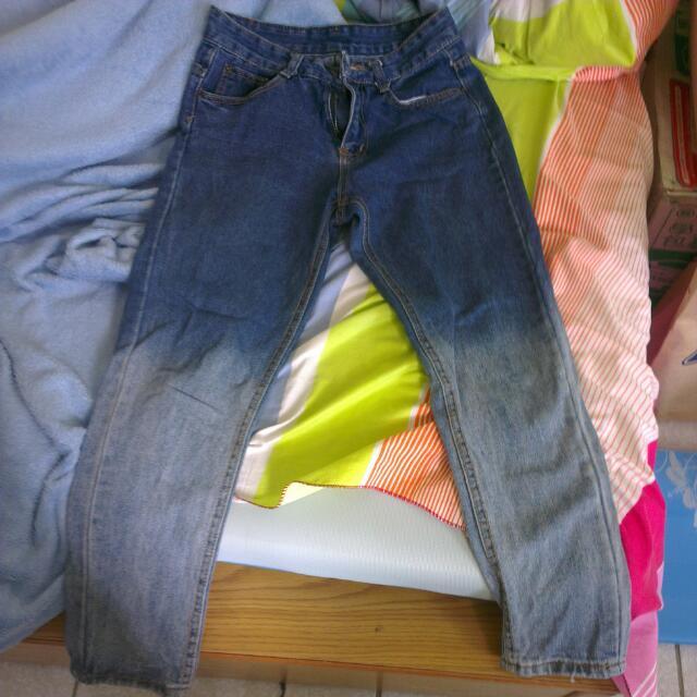 男友風漸層色牛仔褲