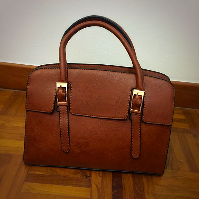 Brand New Brown Leather bag From Taiwan