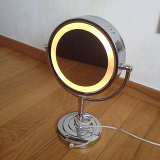 Table Mirror 2 Sided W/light