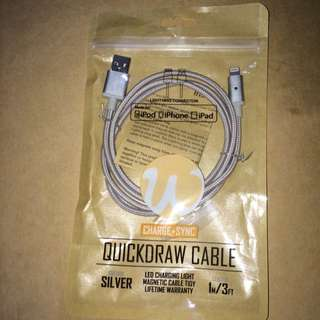 Silver QuickDraw Cable For iPhone