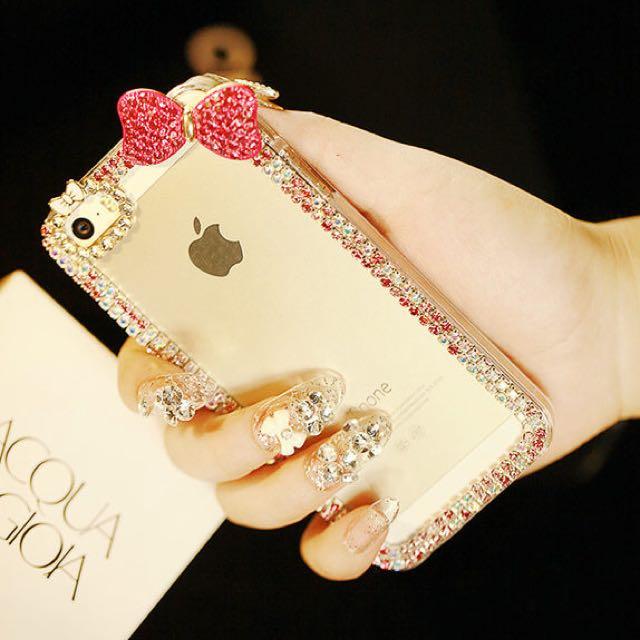 iPhone 蝴蝶結水鑽手機殼