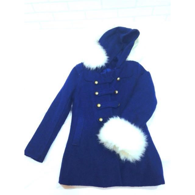 (預定)Miss Cherry 可拆毛雙排扣外套