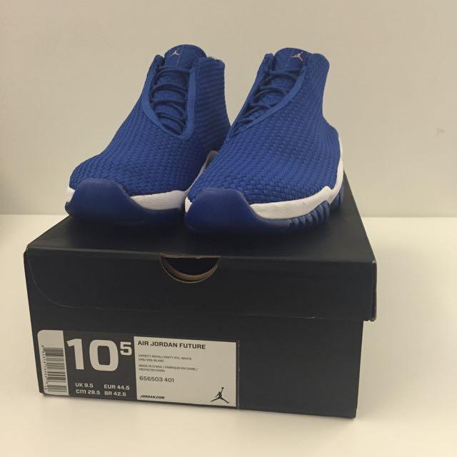興趣者私訊 NIKE AIR JORDAN FUTURE 藍白 冰晶底 喬丹 編織鞋 us10.5