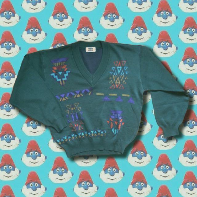 大v領針織毛衣