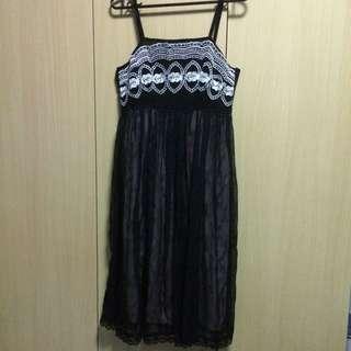 Pre loved Black Full Lining Dress
