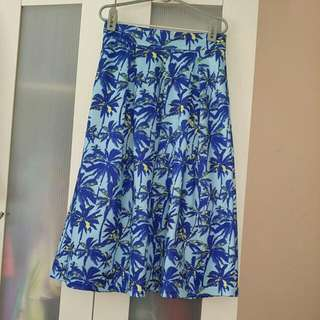 Flare Midi Skirt