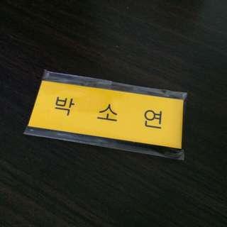 T-ARA Park Soyeon Name Tag