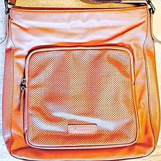 Delsey Full Leather Sling Bag