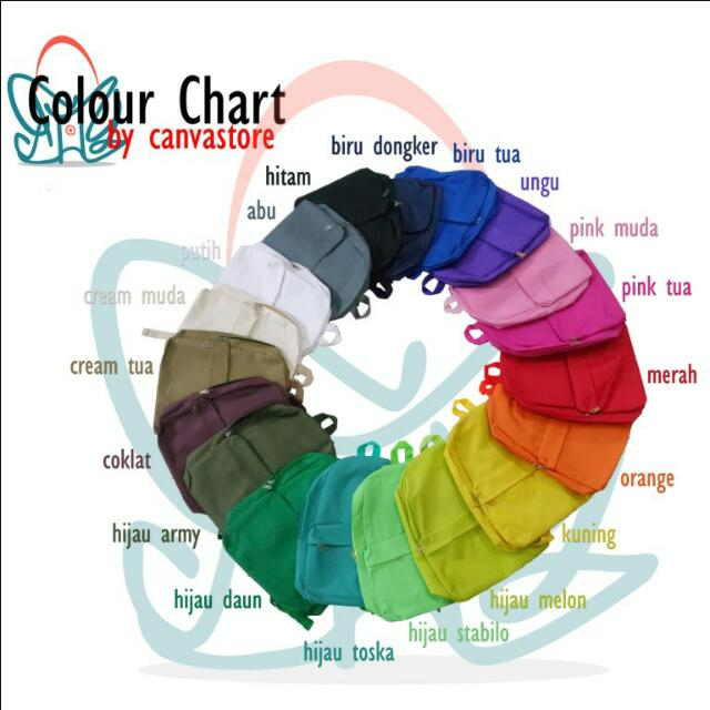 Colour Chart Canvasbag