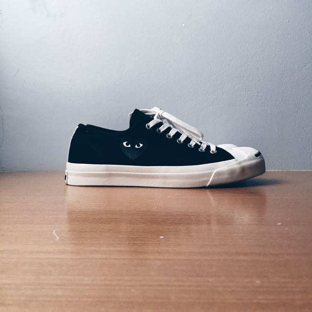 4cfb5e70264f CdG Play X Converse Jack Purcell (Black On Black)