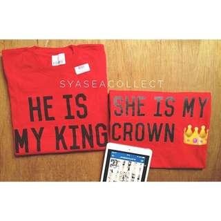 Couple Shirt (Crown & King)
