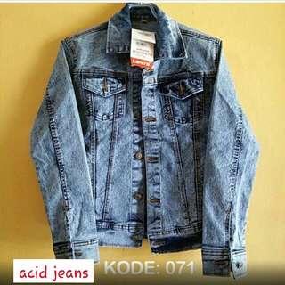 Jaket Jeans Acid Blue