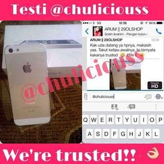 Testimonial iPhone 5 64gb white