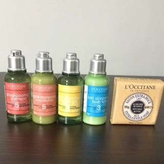 Loccitane Travel Set Toiletries Crabtree Evelyn