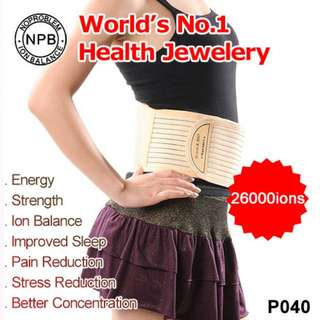 Noproblem Ion Balance Germanium Tourmaline Power Energy 26,000 Anions Health Sport Waist Belt (★ Used mainly in Lower Back / Spinal Pain Relief / Sports injury. Promotes Blood Circulation. ★)