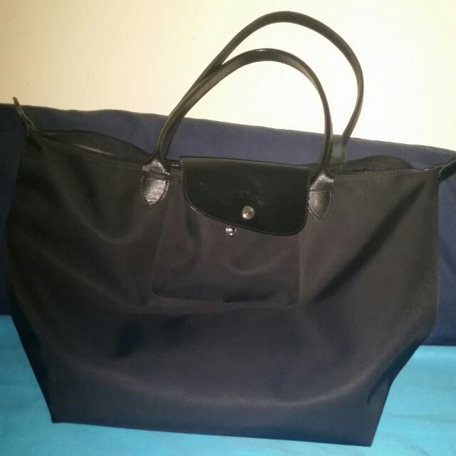 Authentic Large Long Champ Tote