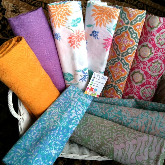 Batik Pastel Kain Dobi Pekalongan Tulis Cap Soft Color Baju Kemeja Dress Rok Blouse Top Bottom Pants Skirt Kebaya Kutubaru