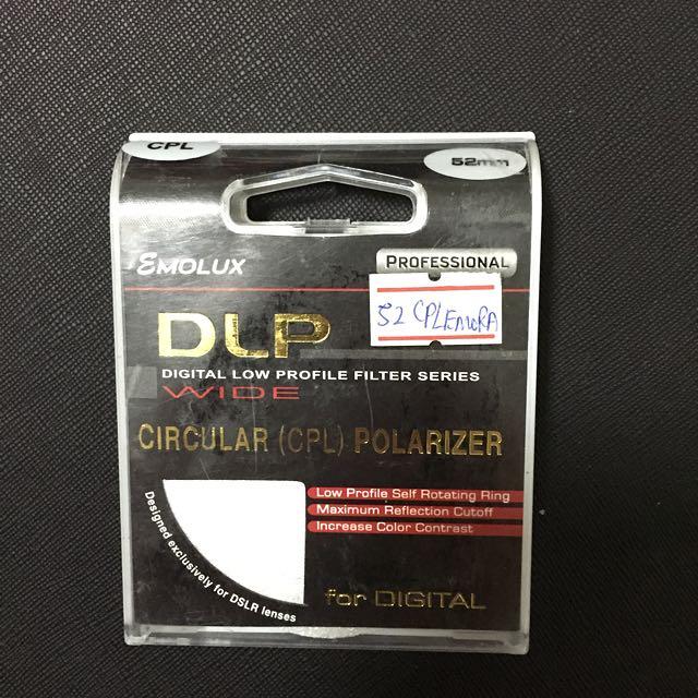 Emolux UV Protector & CPL 52mm Filter