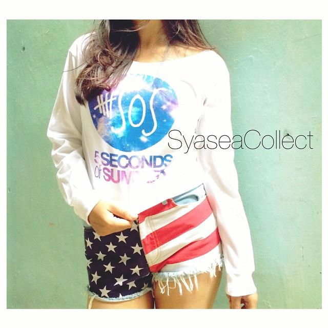 Longsleeves CROP: 5Sos Galaxy 💕